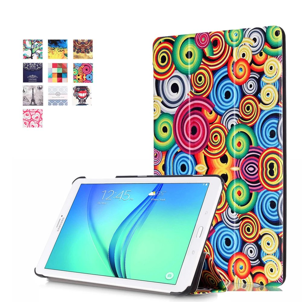 "Искусственная кожа Стенд чехол для Samsung Galaxy Tab E 8.0 T377 T337A T377P T375 8 ""Tablet"