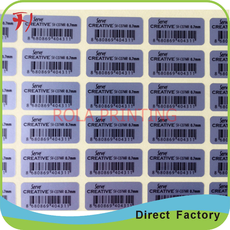 Customized Printing Products Packing Label,Permanent Adhesive