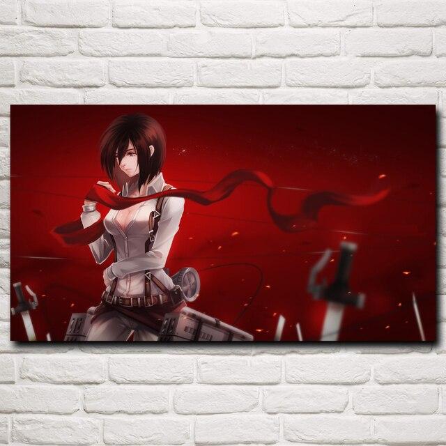 Shingeki No Kyojin Mikasa Ackerman Annie Anime Art Silk Poster Prints Home Decor Printing 11x20 16x29