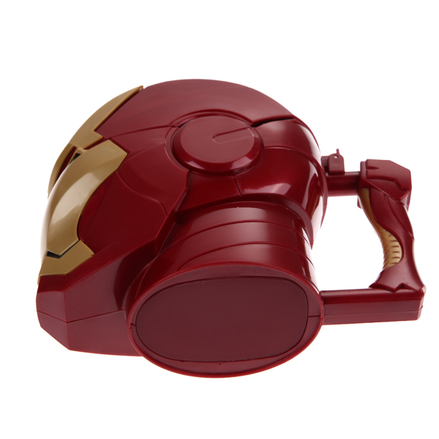 Kitchen Accessories Iron Man 3D Water Cup Black Eyes ABS Plastic High Quality Kitchen Drinkware Mugs for Kids Birthday Gift 5