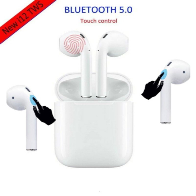 i12 mini TWS Wireless Bluetooth 5.0 super bass stereo earbuds PK i10 i11 tws for xiaomi iPhone ear apple