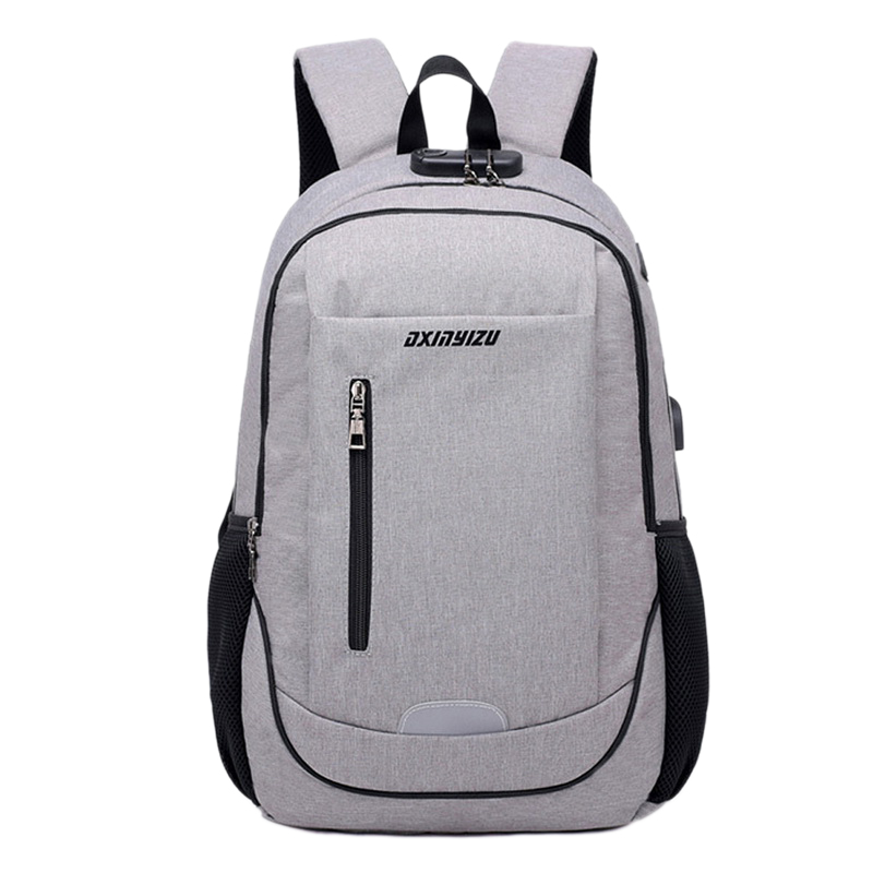 15.6Inch Anti-Theft Waterproof Laptop Backpack Add Usb Charging And Headphone Port Laptop Bag With Security Lock