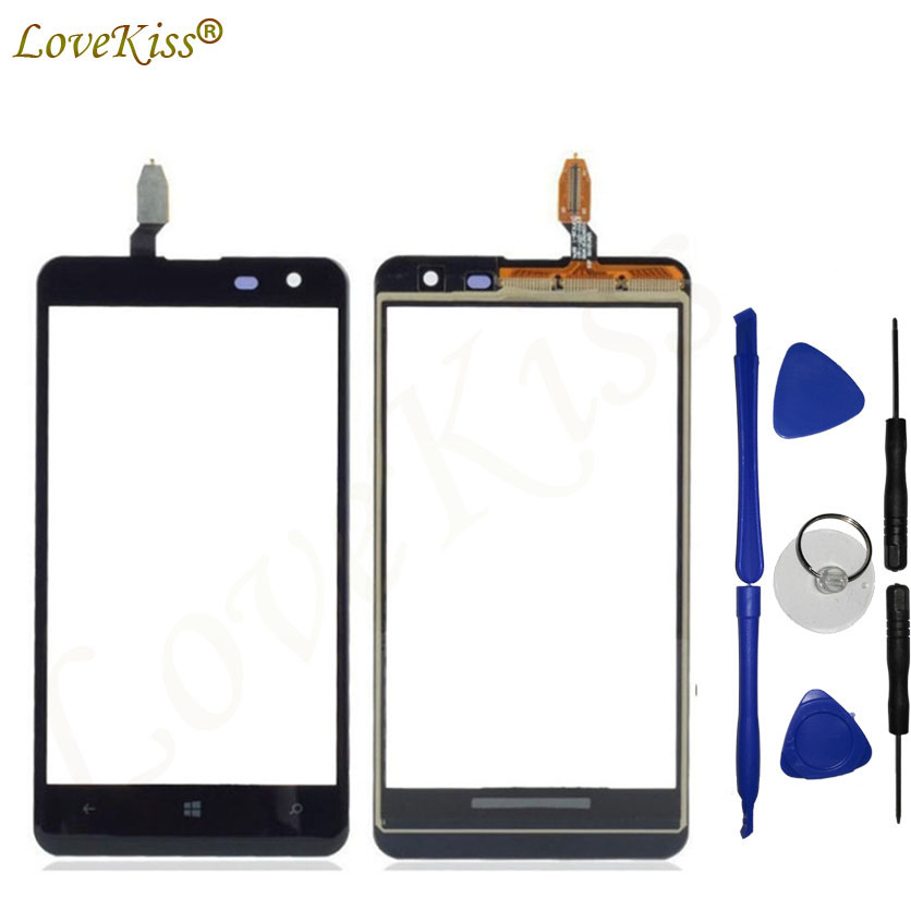 Lovekiss Touchscreen Front Panel Digitizer For <font><b>Nokia</b></font> <font><b>Lumia</b></font> <font><b>625</b></font> N625 <font><b>Touch</b></font> <font><b>Screen</b></font> <font><b>Sensor</b></font> LCD Display Glass Replacement image