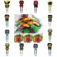 Wholesale 100pcs Pvc Bookmark Cartoon Figure Super Hero X Man Stationery Clip Book Marker Book Holder