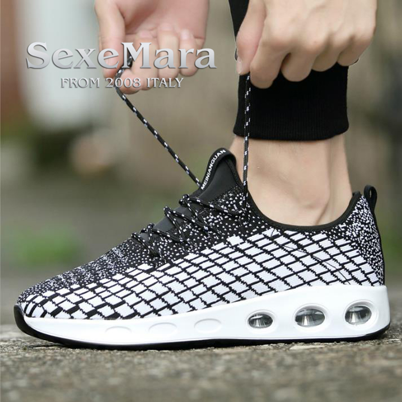 Men Ultra Breathable Air Cushion font b Running b font Shoes for men Athletic Weaving Outdoor