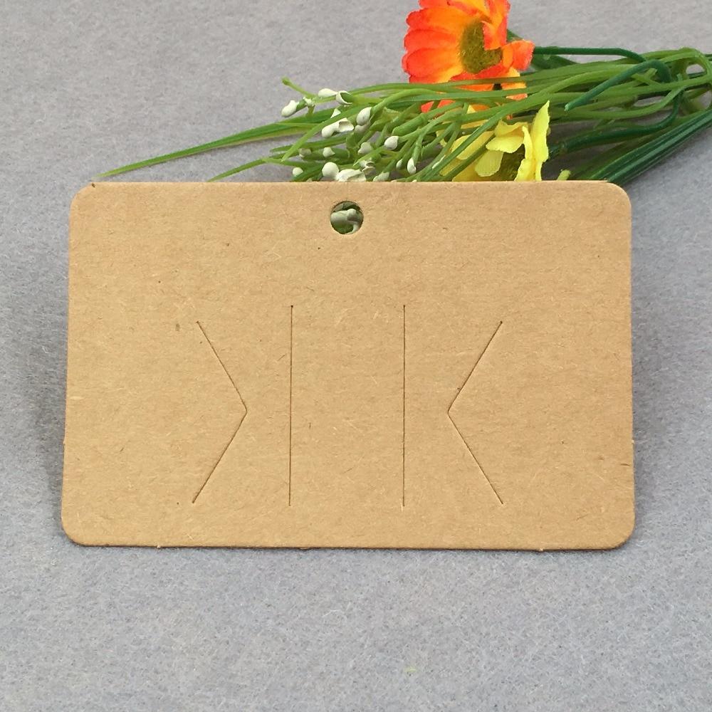 100 Pz Capelli Castani Fascino Display Packaging Card Carta Kraft Clip Di Capelli Artigli Dei Capelli Hairgrips Hanging Carta Jewelry Display Cards