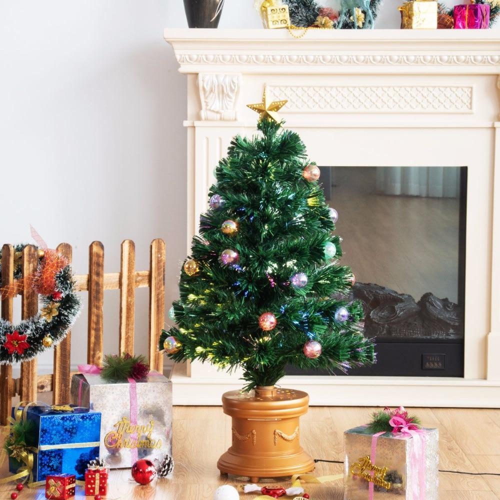 3ft Christmas Trees Artificial: Goplus 3Ft Pre Lit Fiber Optical Firework Christmas Tree W