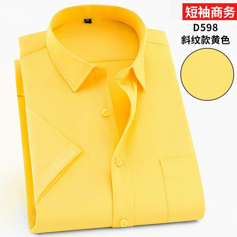 Image 4 - Твил чистый цвет 8XL 7XL 6XL 5XL большой размер Мужская рубашка с коротким рукавом приталенная официальная Мужская белая рубашка деловые мужские рубашки-in Повседневные рубашки from Мужская одежда