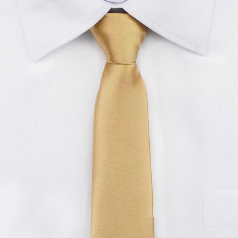 Pre-atado cuello corbata para hombre flaco cremallera corbatas Rojo Negro Azul sólido Color Delgado estrecho novio fiesta vestido corbata