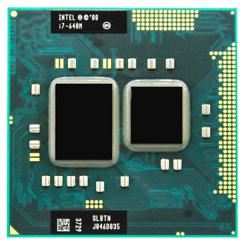 Intel Core I7 640M 2.8GHz Dual-Core 4M Processeur Socket G1 35W SLBTN