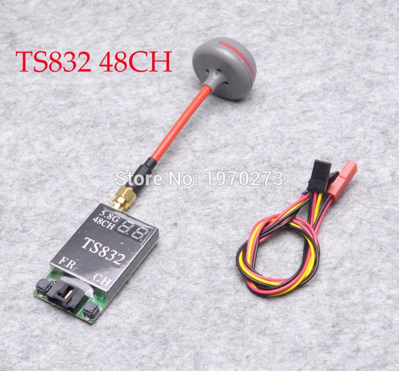 48 TS832 canais 5.8G 600 mW AV Wireless Transmissor de Transmissão de Imagem + TX Fatshark RP-SMA Antena Para FPV RC quapcopter