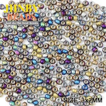 Круглые матовые черные гематит JHNBY, 3 мм, 200 шт., натуральный камень, руда, 7 видов цветов, свободные шарики, украшения, браслет, Аксессуары для самостоятельного изготовления