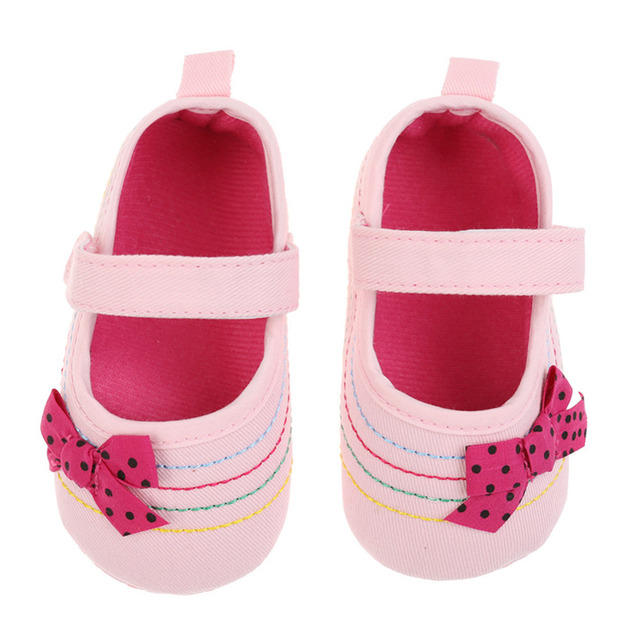 Baby Girl Shoes Denim Bowknot Baby Shoes Prewalker Walking Toddler Kids Shoes Soft Sole First Walkers 3