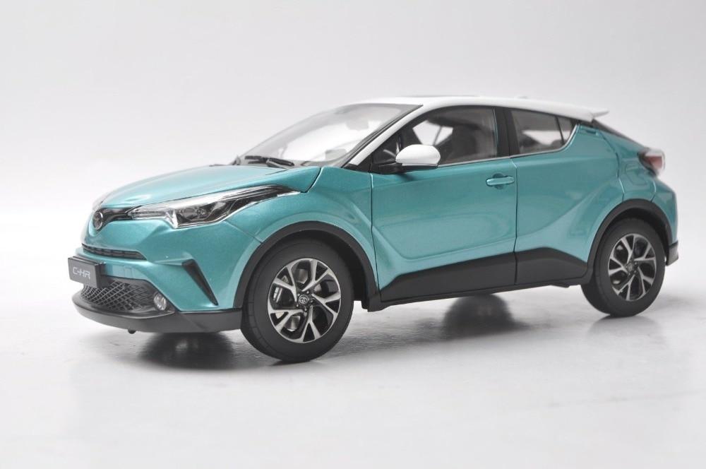 1:18 modèle moulé sous pression pour Toyota C-HR 2017 toit en alliage vert et blanc jouet voiture Miniature Collection cadeaux CHR C HR