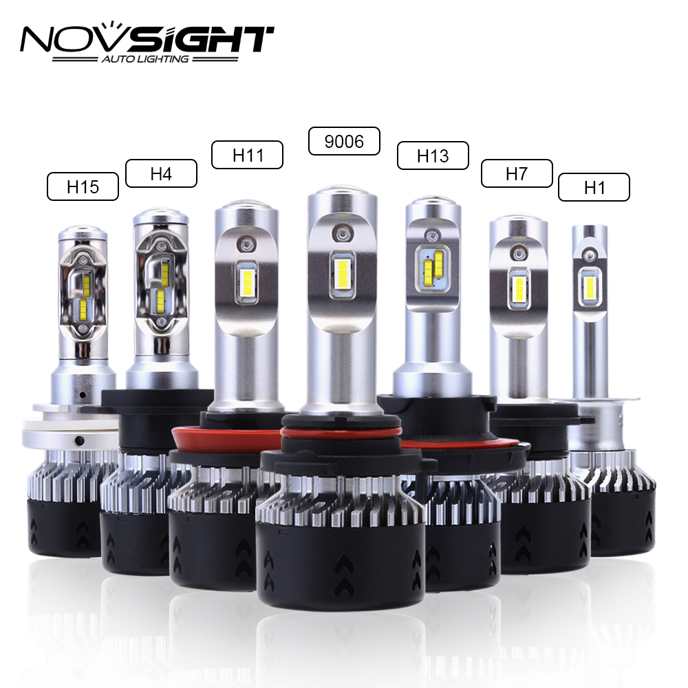 NOVSIGHT H4 H11 H8 H16 H7 Car Headlights Bulbs 70W 10000LM H15 Play and Plug Driving