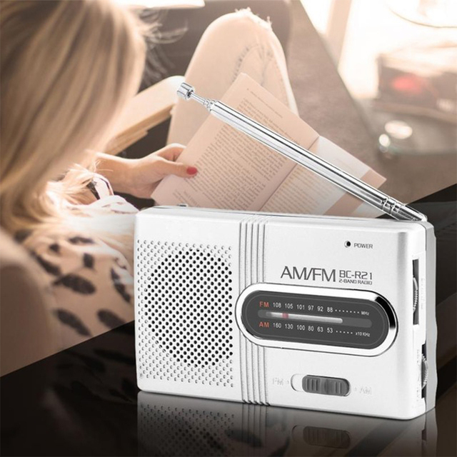 Mini Portable Radio Dual Band AM FM Music Player Radio Stereo