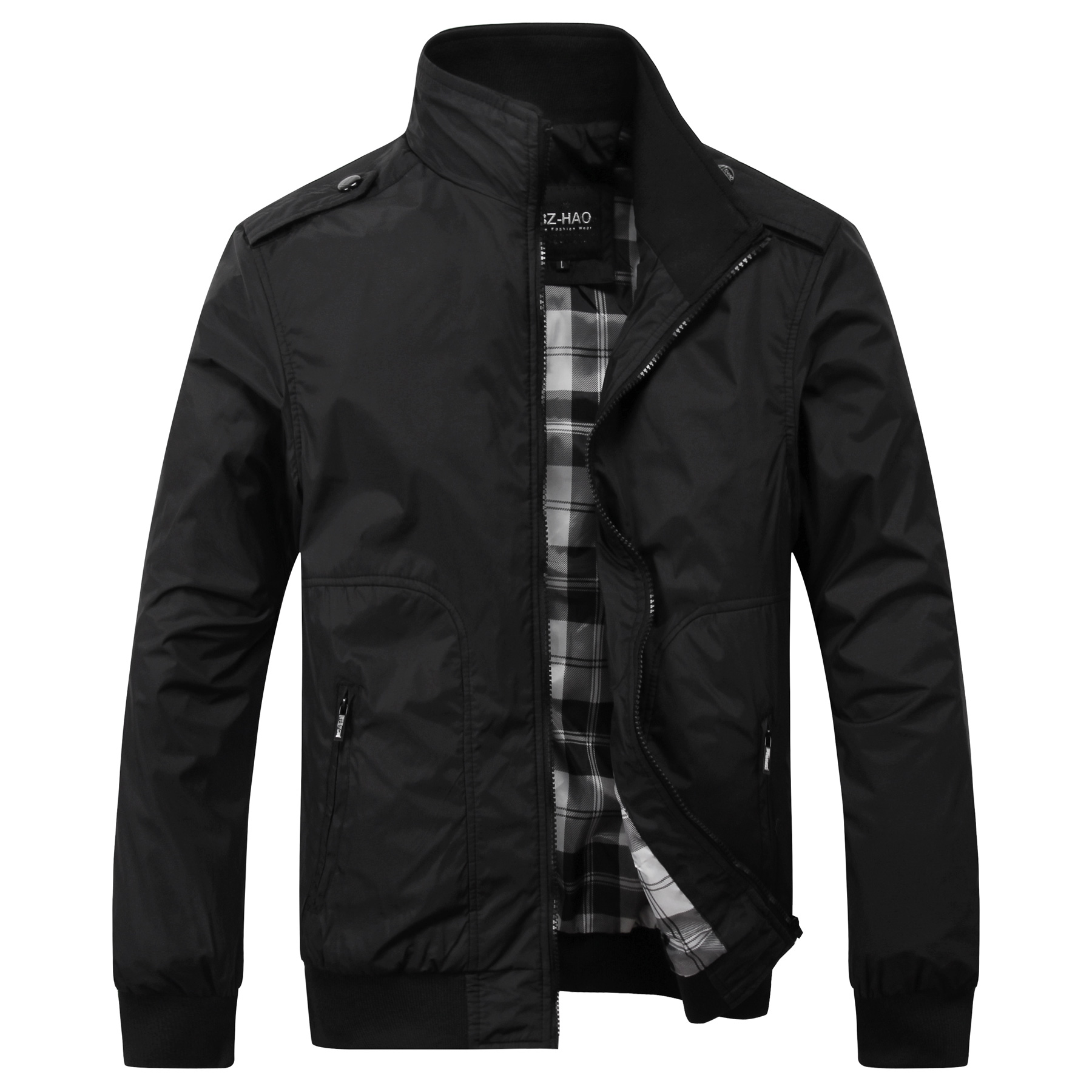 Popular Black Mens Jacket-Buy Cheap Black Mens Jacket lots from ...