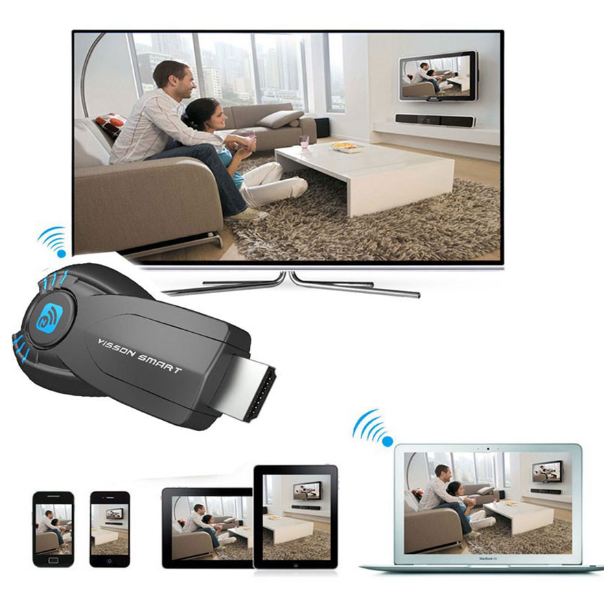 Wifi qəbuledici Ezcast TV Dongle DLNA Miracast Airpaly IOS Android - Portativ audio və video - Fotoqrafiya 2
