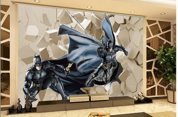 customize 3d batman brick wallpaper wall sticker wallpapers mural