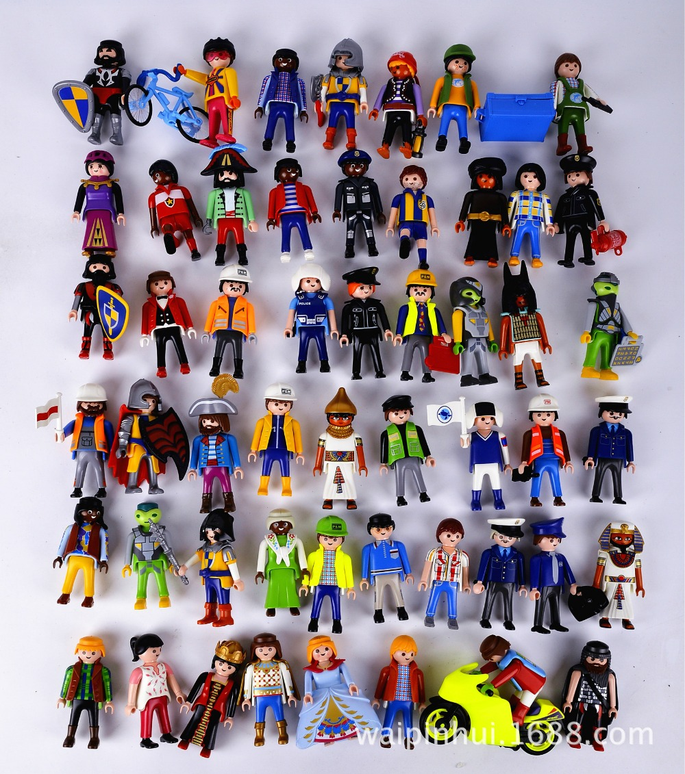 Aliexpress.com : Buy 1Pcs 7.5cm Playmobil Toys Action