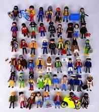 1Pcs 7.5cm Playmobil Toys Action Figures Castle Child Kids Small People Model Doll Boutique Animation Toy Send Random