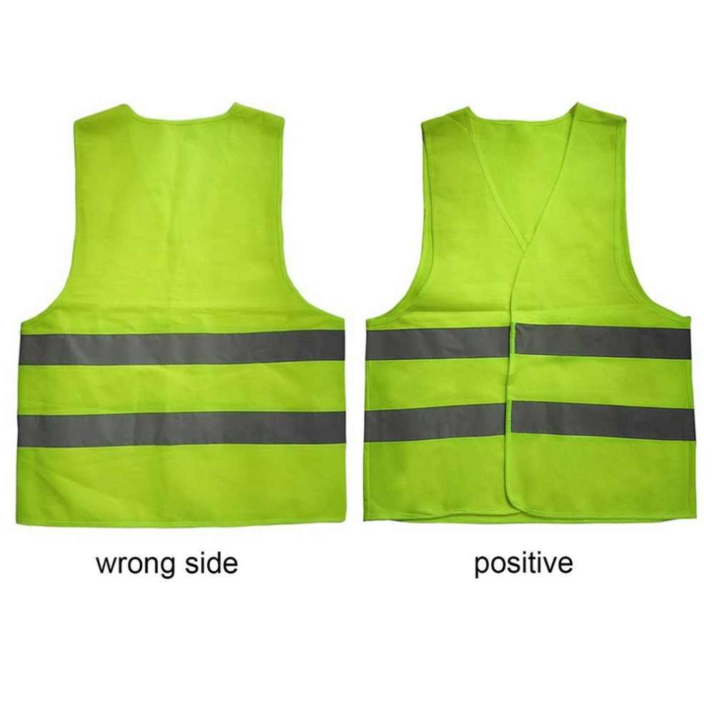 Chaleco fluorescente reflectante XL XXL XXXL Color amarillo naranja ropa de Seguridad al aire libre para correr con ventilación segura de alta visibilidad