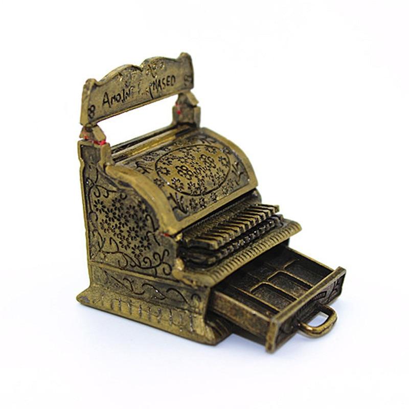1:12 Artificial Classical Cash Register for Doll House Mini Emulational Toy House Dollhouse Model Accessory Desktop Decoration