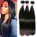 "7A Peruvian Virgin Hair Straight 3 Bundles Peruvian Straight Virgin Hair Bundles 4""-28"" Silkylong Straight Human Hair Extensions"