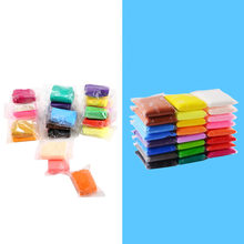 24 Colors 3D Fluffy Foam Clay Slime DIY Soft Cotton Slime Ball Education Craft Toy Antistress Kids Toys for Children(China)