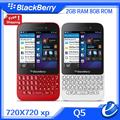 Original Blackberry Q5 3G 4G MobilePhone 5.0MP Dual-core 2GB RAM 8GB ROM Unlocked Blackberry Cellphone refurbished