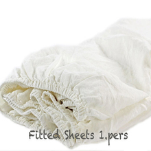 White Vintage Washed Linen Sheets Children Stonewashed French Linen fitted sheet Sheets Bed Cover Bed Sheet Full 90x193x43cm
