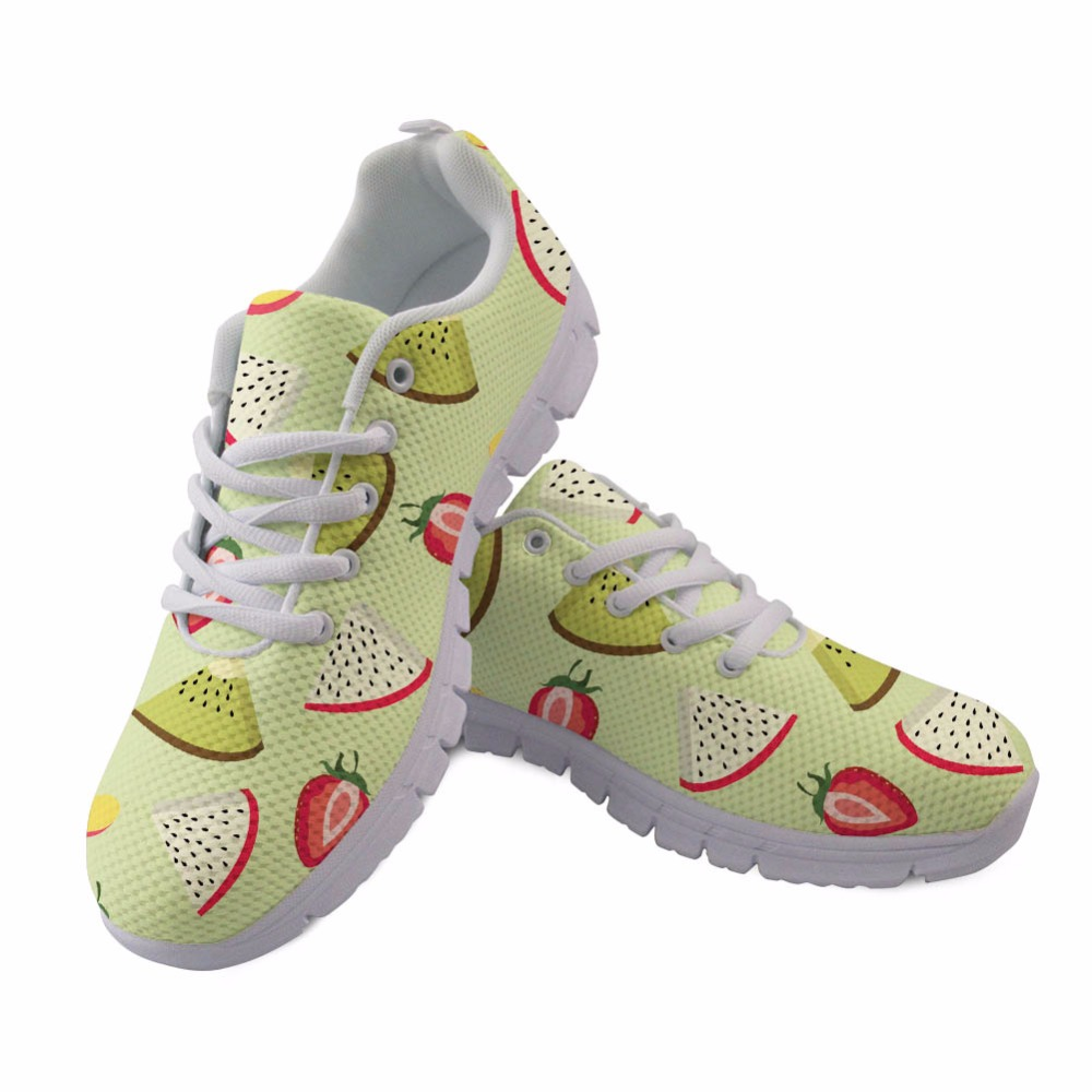 Up Forudesigns De Femmes Confortable Lace Impression Sneakers cc90064aq 2018 Léger Chaussures Casual Mesh Femme customized Customized Fraise Fruits Appartements Ow4qOr1F