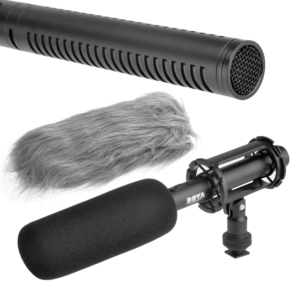 BOYA BY-PVM1000 Professional DSLR Condenser Shotgun Microphone Video Interview Reporting for Canon Nikon Sony DSLR Cameras original new for nihon kohden pvm 2700 pvm 2703 pvm 2701 sb 201p x076 monitor rechargeable battery 12v 3700mah free shipping