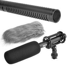 BOYA BY-PVM1000 Professional DSLR Condenser Shotgun Microphone Video Interview Reporting for Canon Nikon Sony DSLR Cameras