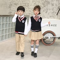8836 Size 90 180cm Three piece School Uniform Suit for Primary and Middle School Students Class Boy and Girl Clothes Set