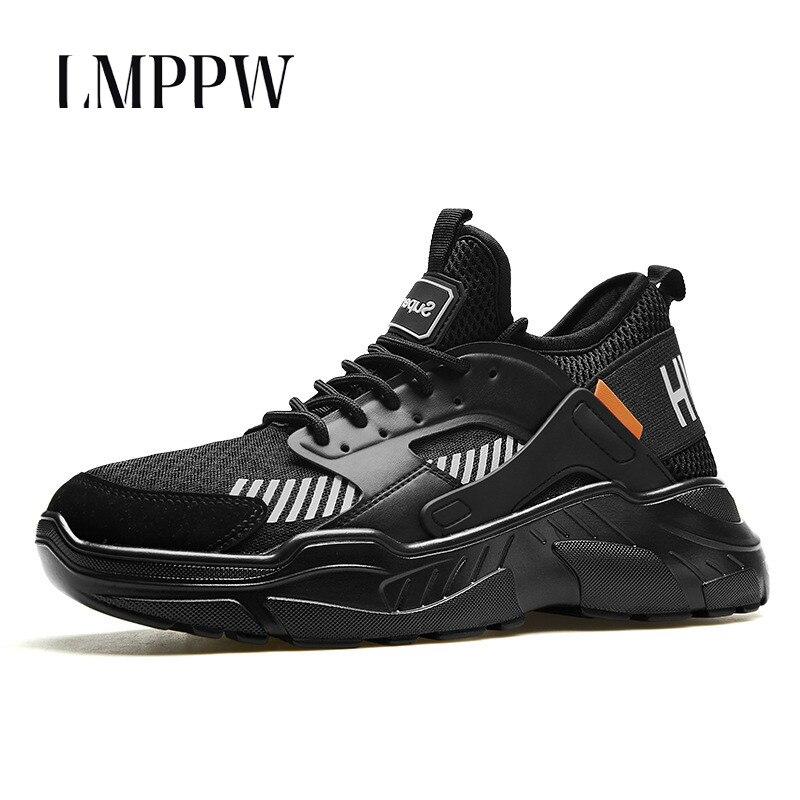 Hommes en plein air Chaussures de Sport Pour Hommes espadrilles décontractées Doux Fond Respirant Hommes Chaussures Fond Épais Chaussures De Marque De Mode Noir Blanc