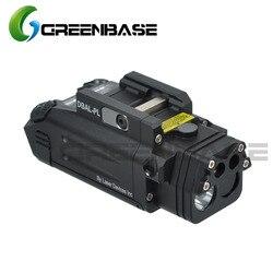 Greenbase DBAL-PL Тактический ИК лазер/ИК свет/Стробоскоп/красный лазер 400 люмен светодио дный светодиодный фонарик для тактических винтовок Охота ...