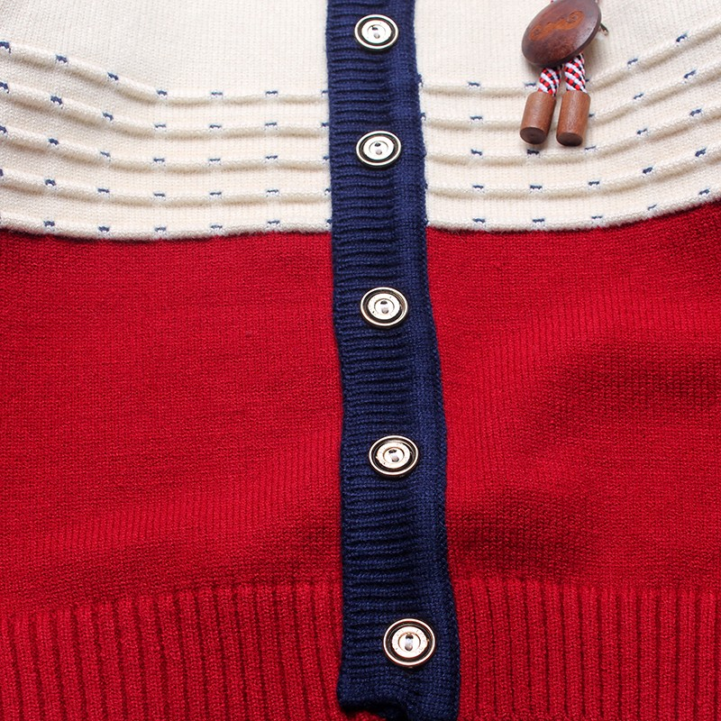 Boys Sweaters Print Cotton Top Knit Infant Outfit With Button Boy Corsage Outerwear Winter Warm Apparel Cardigan Knitted Clothes (7)
