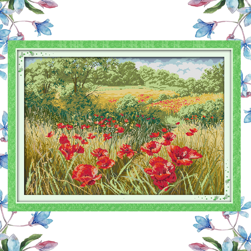 Aliexpress Buy Nkf Beautiful Flowers Scenery Style Handmade