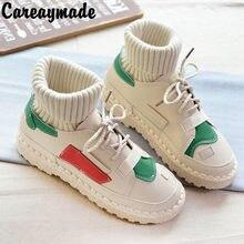 17e85bd38 Careaymade-hecho a mano coreano nuevo estilo botas de calor y de lana  delgada botas el arte retro mori chica plana suave botas 3.
