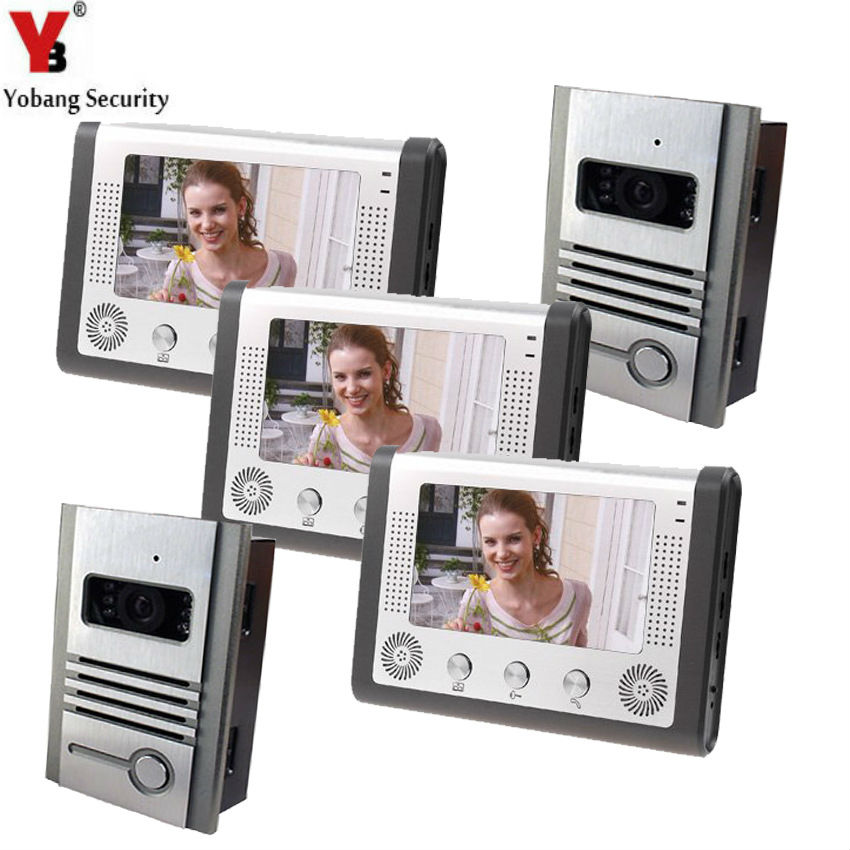 Yobang Security 7 TFT Video Door Phone Support to Electric Control Door Lock IR Camera Doorphone Monitor Speakerphone Intercom yobang security metal outdoor unit ir door camera for doorphone monitor rainproof outdoor camera for video door phone no screen