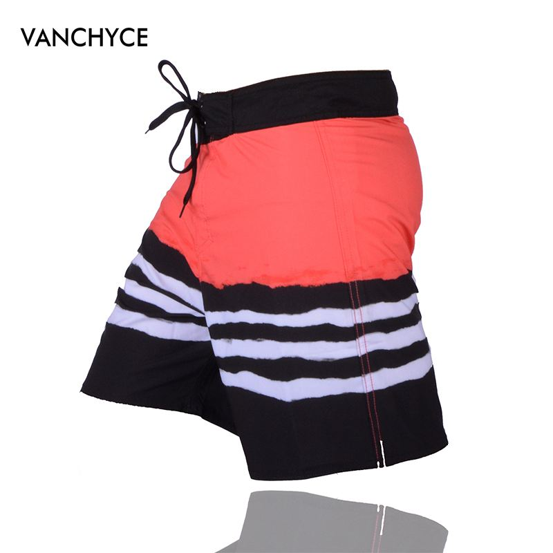 VANCHYCE Summer Red   Shorts   Men Beach   Shorts   Men Bermuda   Short   Quick Dry Silver Boardshorts   Board     Shorts   Brand Swimwear Men
