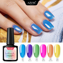 10ml Jelly Glass Candy Gel Nail Polish Summer Attribute Neon Color Soak Off Semi Permanent Art Led Lacquer