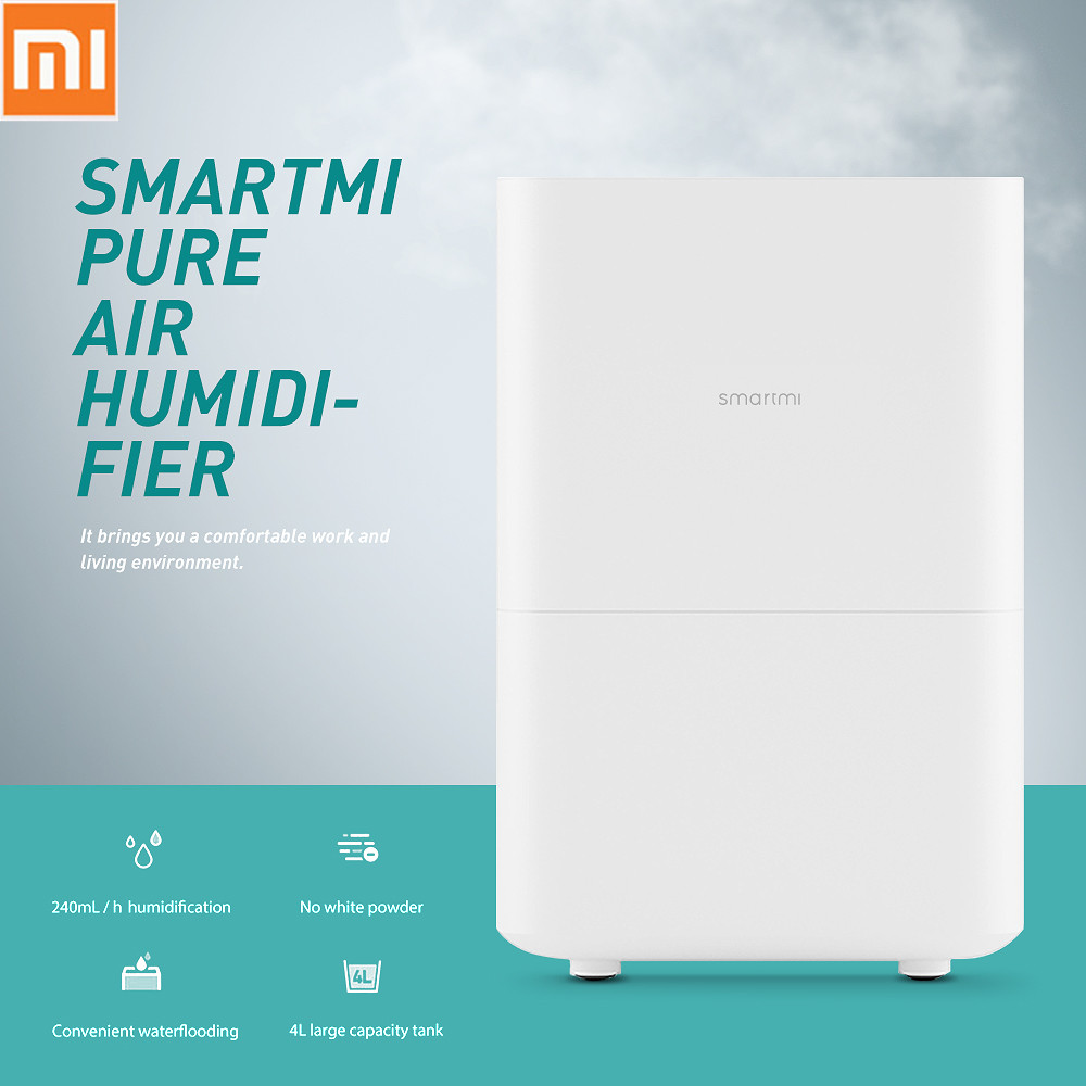 Xiaomi Viomi Smartmi Pure Air Humidifier With 4L Large Capacity Tank Automatic Water Evaporation Mist Maker Home Office brand