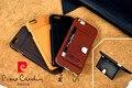 """Pierre Cardin couro genuíno cartão de crédito Ultra Slim transporte Hard Case tampa do suporte para o iPhone 6 / 6 s 4.7 """" frete grátis"""