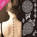1pcs Henna Tattoo Stencil For Glitter Tattoo Template, Temporary Black Mehndi Indian Tattoo Stencils For Painting Henna Kit