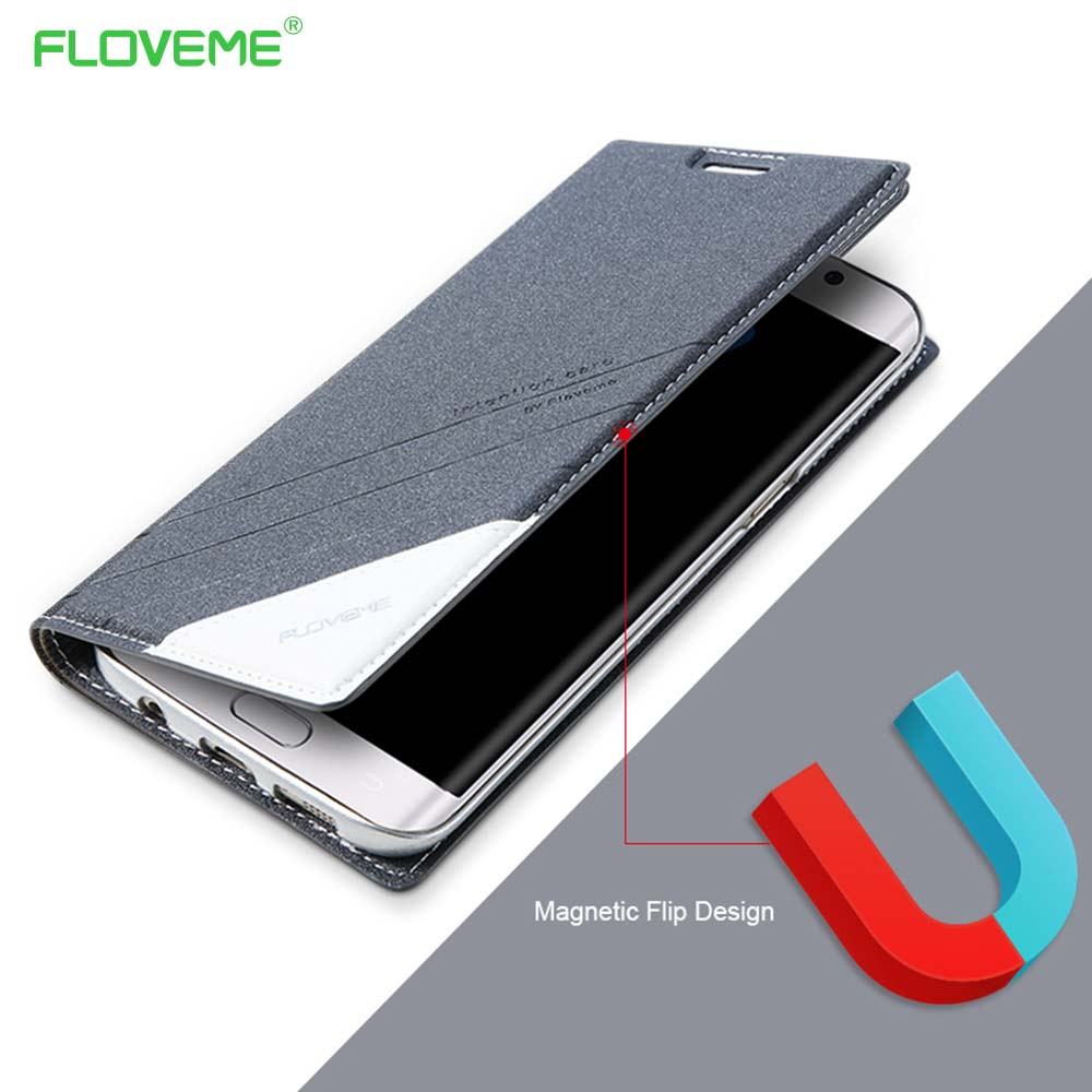 FLOVEME Original magnetfodral för Samsung Galaxy S7 Edge Leather Wallet Flip Cover 360 Coque För Galaxy S7 S8 S8Plus Capa