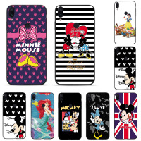 For Huawei Note10 Honor Play Couple Lovers Cute Cartoon Minnie Mickey Mouse Case Black Soft TPU Cover