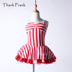 Thank Frank Red Striped Camisole Ballet Tutu Dress Girls Adult Naval Style Backless Dance Costume C361
