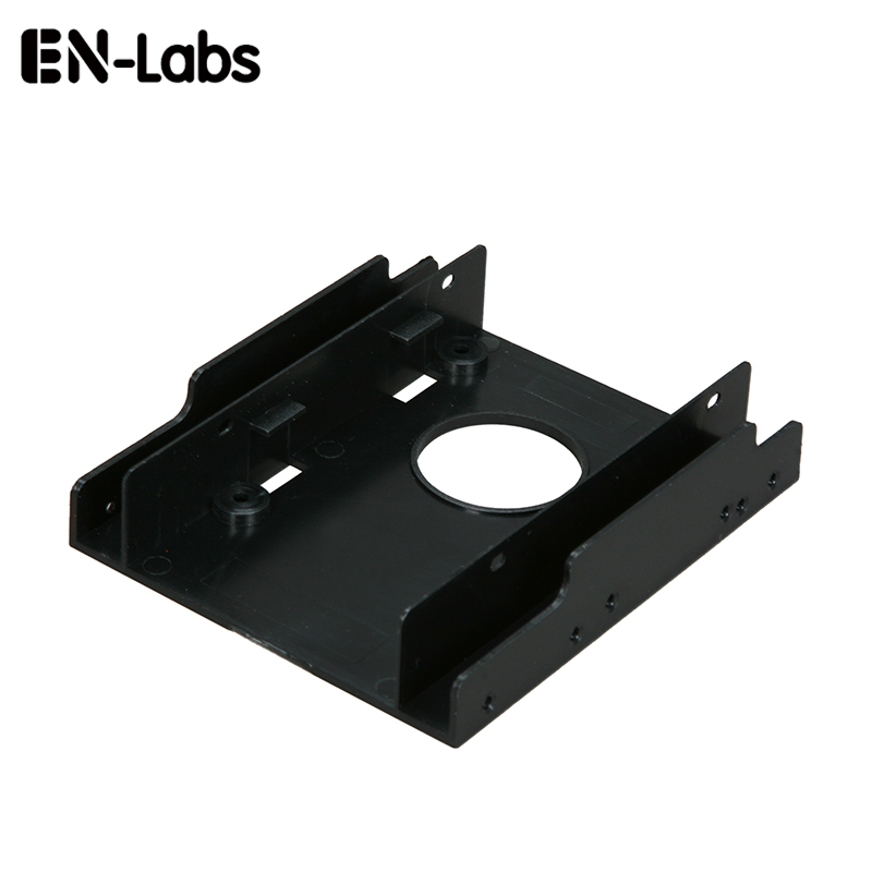 "No-labs ny 2,5 ""SSD HDD-dock til 3,5"" harddiskbrønn plastmonteringssett-adapter, brakettkonverter for PC-holder - 1 stk"